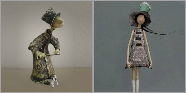 Кукольная скульптура в технике «папье-маше»