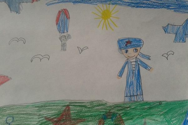 Выставка детского рисунка «Папин праздник»
