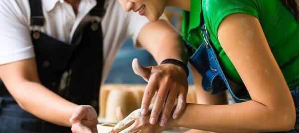 Индивидуальный романтический мастер-класс для пары + мастер-класс по гончарному мастерству для одного или двоих в студии MasterstvoMsk