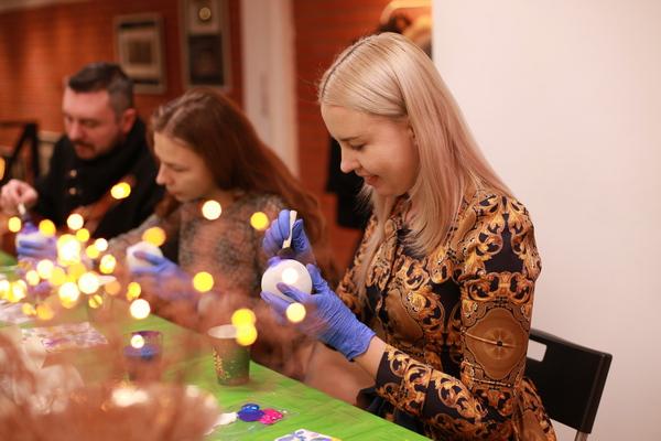 Арт-вечеринка — роспись елочных шаров — от Катерины Тарт