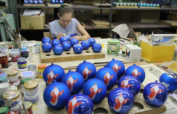 Новогодняя экскурсия на фабрику ёлочной игрушки в г.Клин