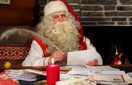 Визит Йоулупукки на фестиваль «Путешествие в Рождество»