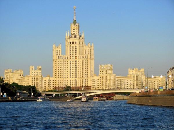 Дом на Котельнической набережной - одна из Сталинских высоток, третья по высоте