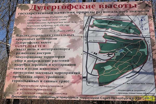 План Дудергофских высот