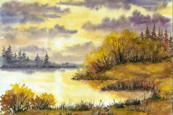 картинки акварелью природа