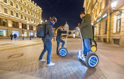 Ночная экскурсия на сегвеях по Санкт-Петербургу