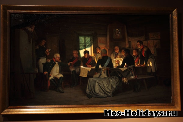 Военный совет в Филях, картина из музея-панорамы Бородинская битва