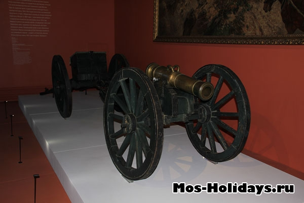 Пушка из музея-панорамы Бородинская битва