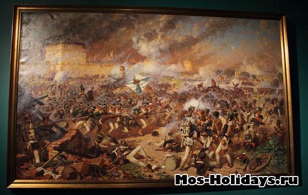 Сражение за Смоленск, картина из музея-панорамы Бородинская битва