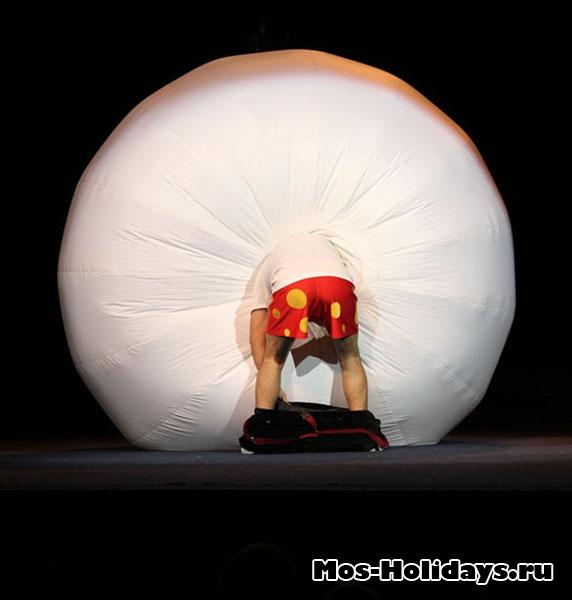 Номер с шаром, цирк Варьете на льду