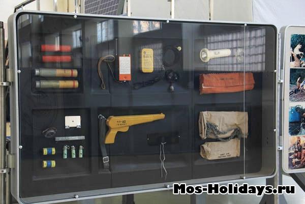 Набор предметов, с которыми приземляются на Землю космонавты