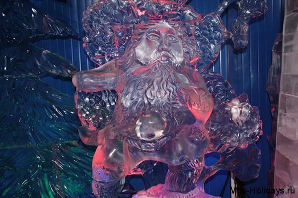 Ледяная скульптура Соловья-разбойника