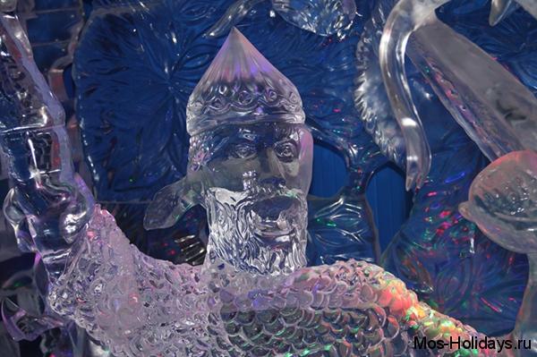 На выставке ледовых скульптур
