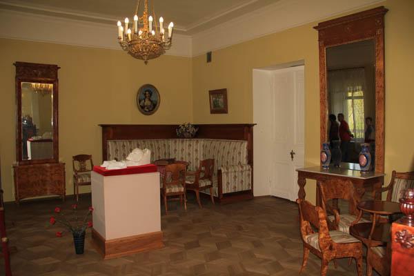Комната, где находился гроб с телом В.И. Ленина