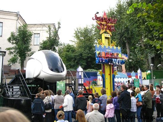 Аттракционы для детей в Московском зоопарке