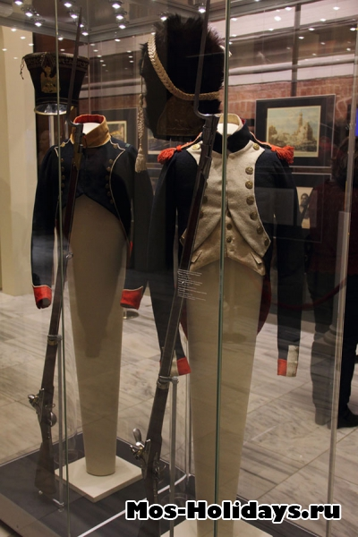 Солдатские мундиры из музея Отечественной войны 1812 года