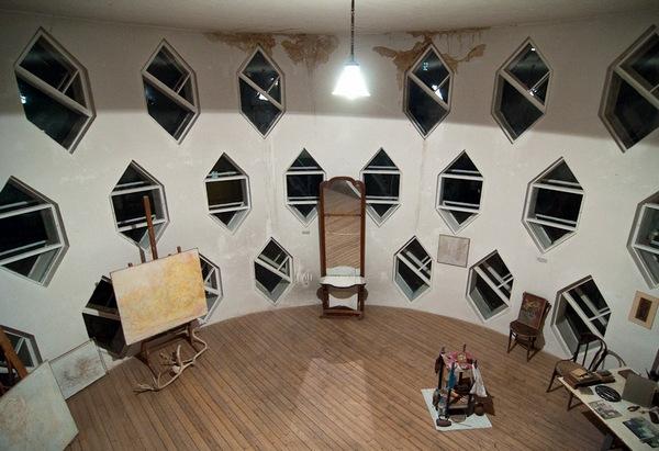 Дом Мельникова вид изнутри