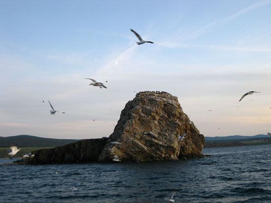Остров Беленький Малого моря озера Байкал