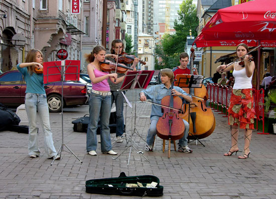 Музыканты на Старом Арбате