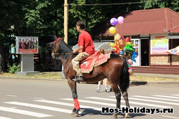 Покататься на лошадях в парке Сокольники