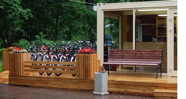 Прокат велосипедов в парке Сокольники