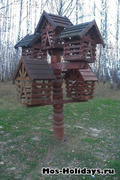 Скворечники в парке Тропарево
