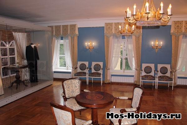 Комната на втором этаже, где располагался оркестр усадьбы Люблино