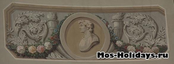 Изображения греческих богов в Круглом зале усадьбы Люблино