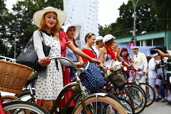Велопарад «Леди на велосипеде — 2016» в парке «Сокольники»