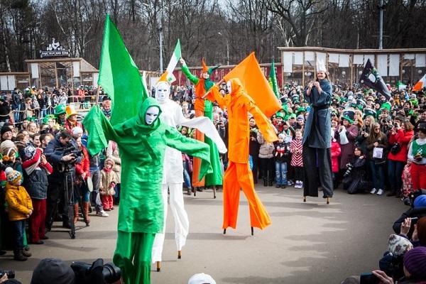 Парад Святого Патрика в парке «Сокольники»