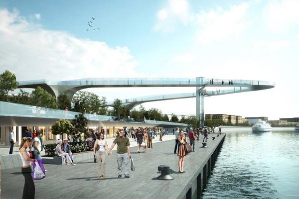 Парящий мост в парке «Зарядье»
