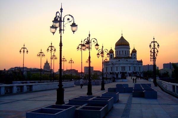 Автобусная экскурсия по вечерней Москве