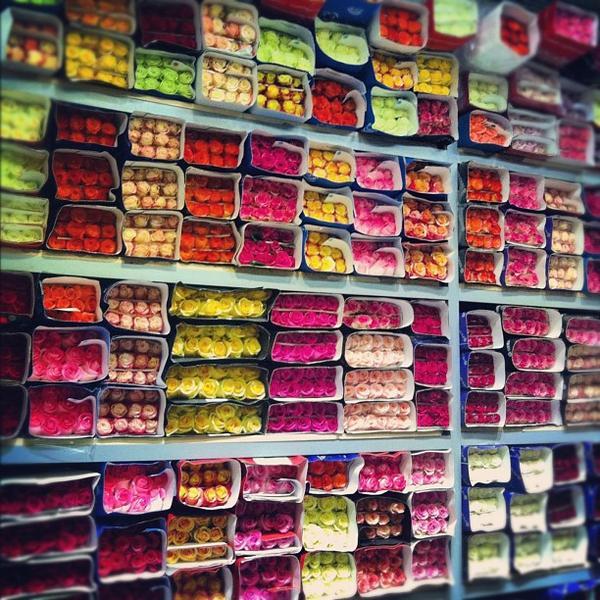 Рижский цветочный рынок в Москве