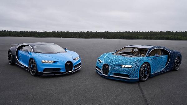 Полноразмерный автомобиль LEGO Technic Bugatti впервые приезжает в Москву