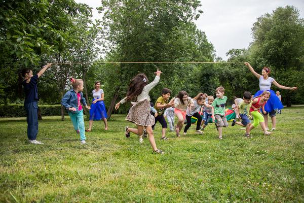 Фестиваль дворовых игр «ДВОР'ОК» в Ангарских прудах