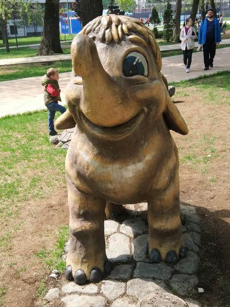 Мамонтенок в Пресненском детском парке