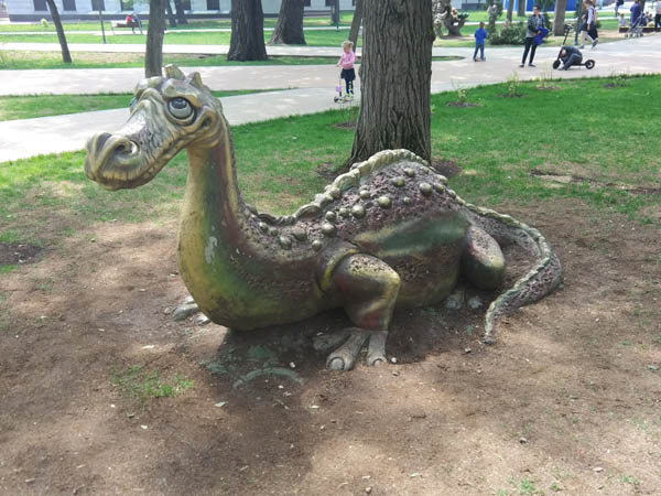 Лохнесское чудовище в Пресненском детском парке