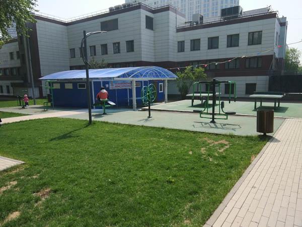 Спортивная площадка в Пресненском детском парке