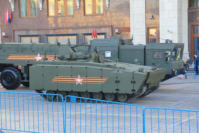 Репетиции Парада Победы на Красной площади