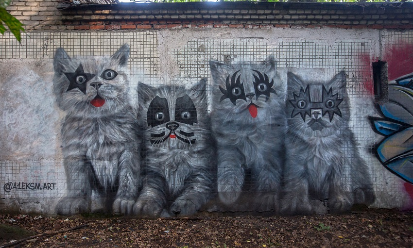 Котята в честь группы KISS