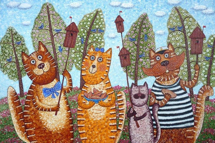 Выставка картин «Без кота и жизнь не та»
