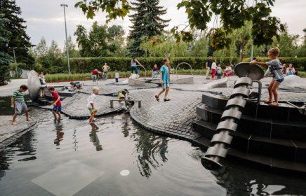 Большая детская площадка в Парке Горького — «Салют»