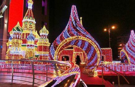 Автобусная экскурсия «Волшебство новогодней Москвы»