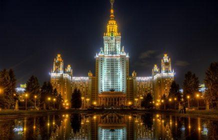 Главное здание МГУ — одна из Сталинских высоток Москвы
