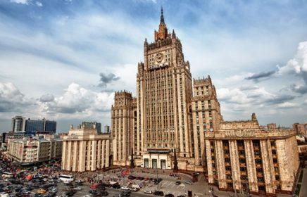 Здание МИД РФ на Смоленской площади — одна из Сталинских высоток Москвы